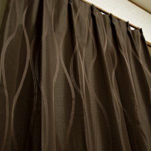 リッチな雰囲気 織り柄遮光オーダーカーテン フィオーレ ブラウン