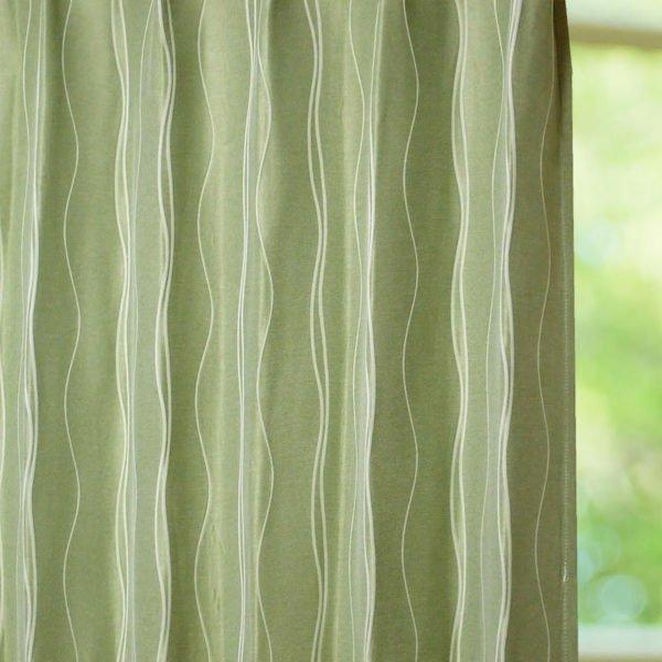 曲線がアクセントのシンプルデザインカーテン