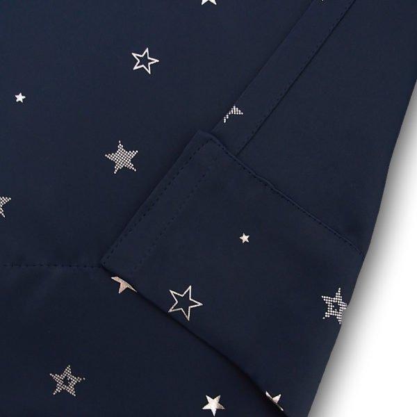 星柄1級遮光オーダーカーテン キララ ネイビー