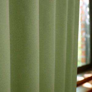 和色カーテン 抹茶色