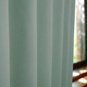 和色カーテン 白緑