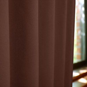 和色カーテン 煉瓦色