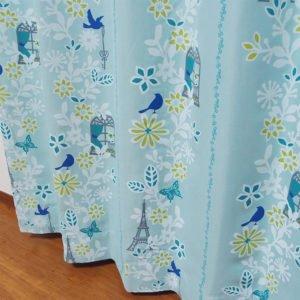 可愛らしいデザイン 遮光オーダーカーテン リヨン ブルー