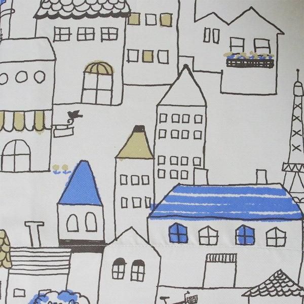 手書き風大人可愛いデザイン 遮光オーダーカーテン マロニエ グレー
