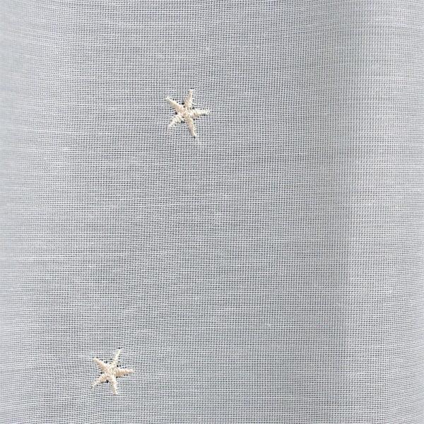 星柄刺繍が可愛いレースカーテン ボイル生地 L.ティア