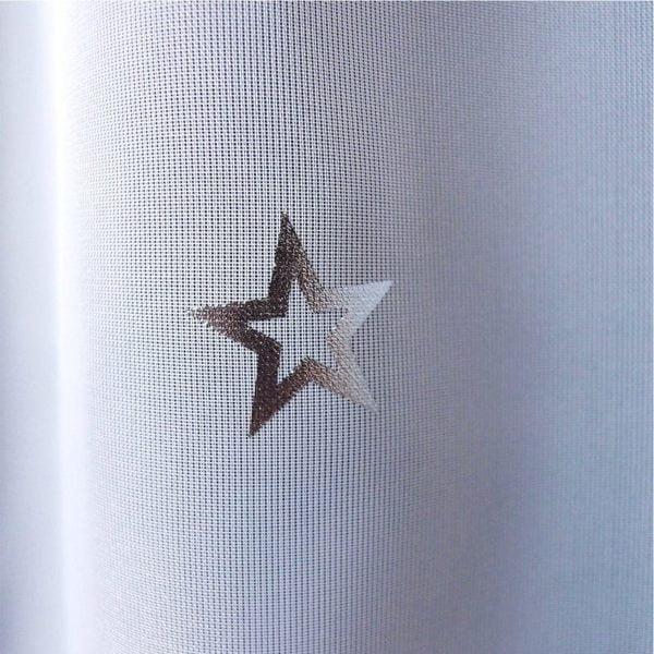 輝く星柄レースカーテン ボイル生地 L.レースキララ