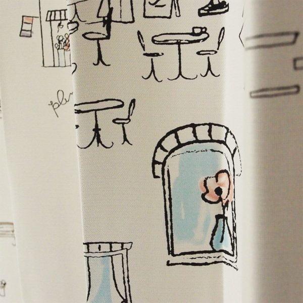 プルーン パリの絵 ベージュ