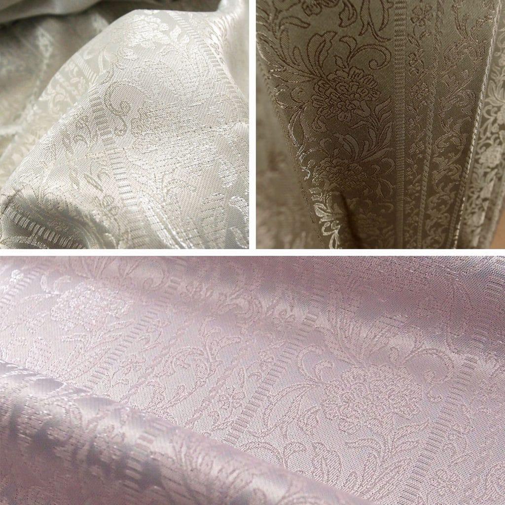 お手頃お安い上品なジャカード織り遮光オーダーカーテン シーバス ピンクの画像です