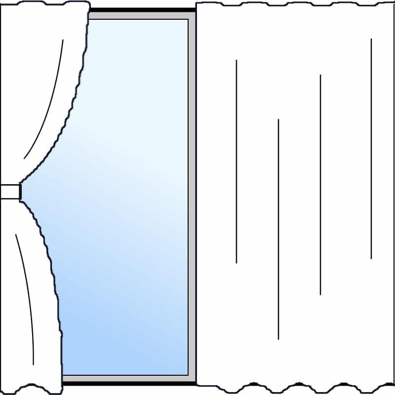 両開きカーテン